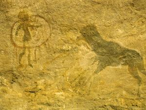 Rock Paintings, Tassili, Algeria, North Africa, Africa by Jack Jackson