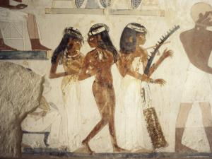 Wall Paintings of Female Musicians in the Tomb of Nakht by Jack Jackson