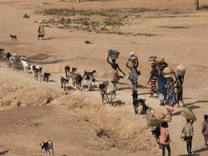 Women on Their Way to Washplace in the River Niger, Mali, Africa by Jack Jackson