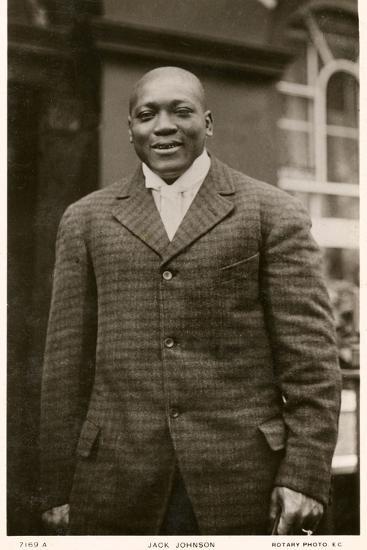 Jack Johnson Boxer--Photographic Print