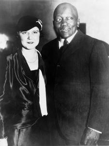Jack Johnson, One-Time Heavyweight Champion, with His 4th Wife, Oct. 7, 1931