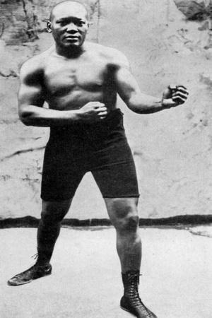 Jack Johnson, the First Black World Heavyweight Boxing Champion, 1908--Giclee Print