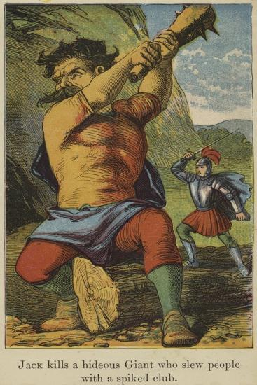 Jack Kills a Hideous Giant Who Slew People with a Spiked Club--Giclee Print