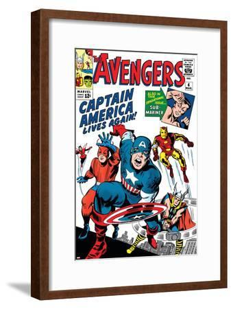 Avengers Classic No.4 Cover: Captain America, Iron Man, Thor, Giant Man and Wasp