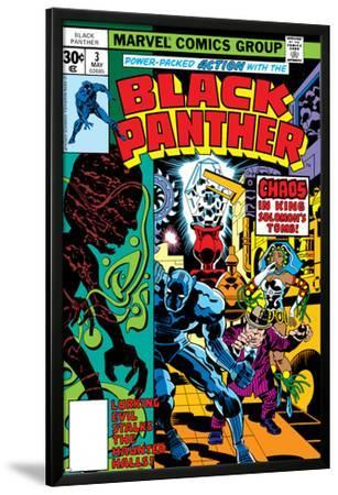 Black Panther No.3 Cover: Black Panther, Princess Zanda, Hatch-22, Little and Abner Charging