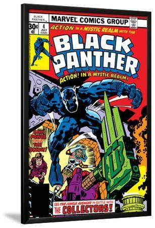 Black Panther No.4 Cover: Black Panther, Princess Zanda, Little and Abner Fighting