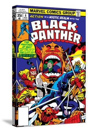 Black Panther No.7 Cover: Black Panther Charging