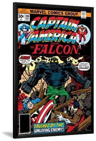 Captain America And The Falcon No.204 Cover: Captain America, Falcon and Agron Fighting