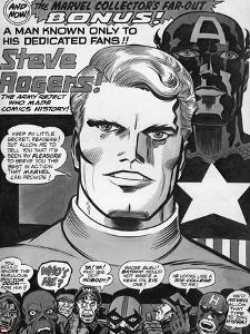 Captain America Bicentennial Battles Headshot: Captain America, Marvel Comics and X-Men by Jack Kirby