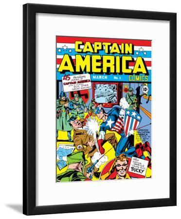 Captain America Comics No.1 Cover: Captain America, Hitler and Adolf