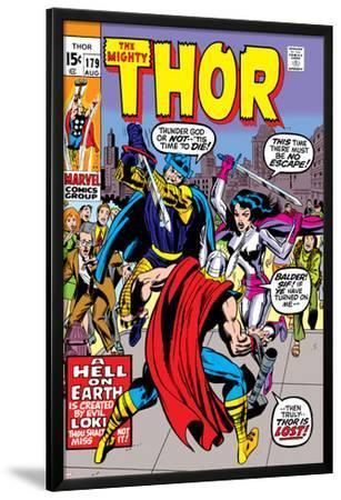 Thor No.179 Cover: Thor, Balder and Sif