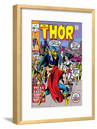 Thor No.179 Cover: Thor, Balder and Sif