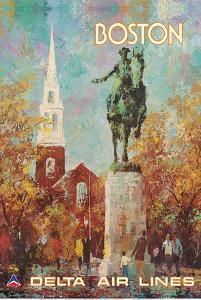 Boston, Massachusetts - Paul Revere Monument - Delta Air Lines by Jack Laycox