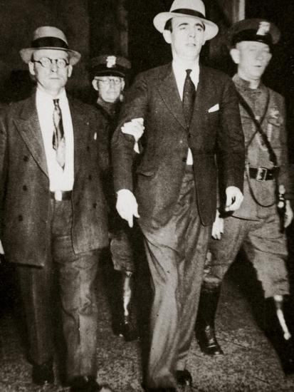 Jack 'Legs' Diamond, temporarily in the hands of the law in Troy, New York, USA, July 1931-Unknown-Photographic Print