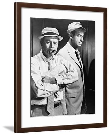 Jack Lemmon, Walter Matthau, the Odd Couple, 1968--Framed Photographic Print