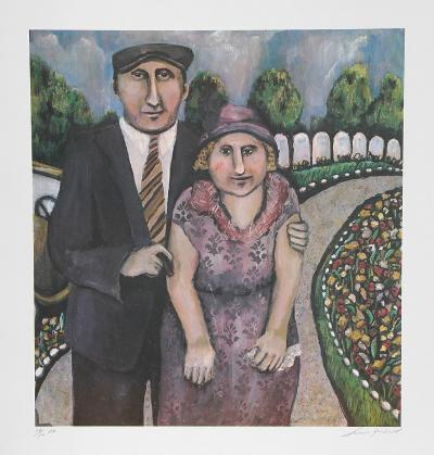 Jack & Mami on the Road-Susan Gardner-Collectable Print