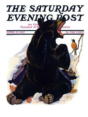 """End of Hibernation,"" Saturday Evening Post Cover, April 17, 1937"