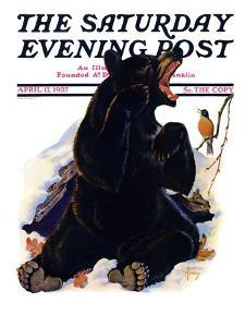 """""""End of Hibernation,"""" Saturday Evening Post Cover, April 17, 1937 by Jack Murray"""
