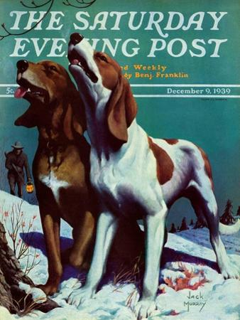 """""""Hound Dog,"""" Saturday Evening Post Cover, December 9, 1939 by Jack Murray"""