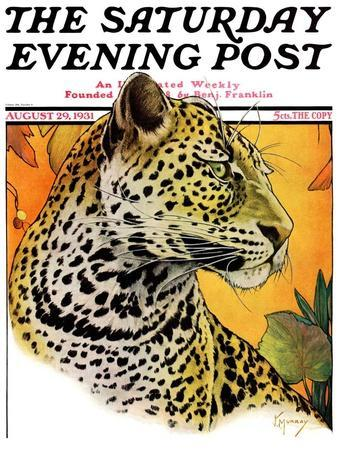 """Leopard,"" Saturday Evening Post Cover, August 29, 1931"
