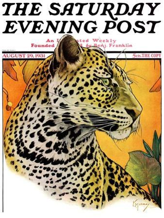 """Leopard,"" Saturday Evening Post Cover, August 29, 1931 by Jack Murray"
