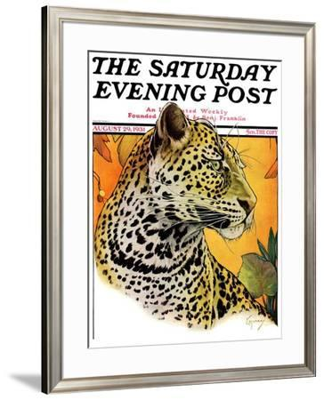 """""""Leopard,"""" Saturday Evening Post Cover, August 29, 1931 by Jack Murray"""