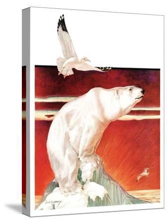 """""""Polar Bear on Iceberg,""""January 14, 1933 by Jack Murray"""