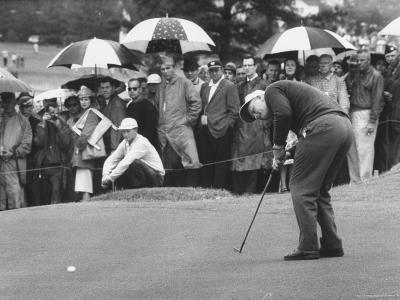 Jack Nicklaus During the Master Golf Tournament-George Silk-Premium Photographic Print