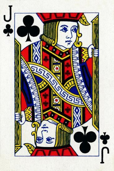 Jack of Clubs from a deck of Goodall & Son Ltd. playing cards, c1940-Unknown-Giclee Print