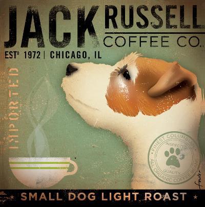 Jack Russel Coffee Co.-Stephen Fowler-Art Print