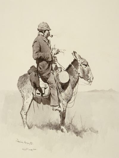 Jack's Man William, a Modern Sancho Panza (Brush, Pen and Ink and Gouache on Paper)-Frederic Remington-Giclee Print
