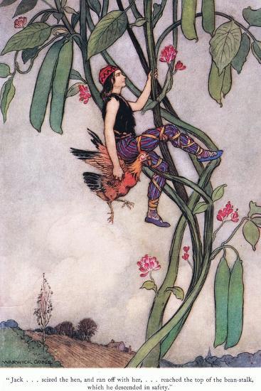 Jack Seized the Hen-Warwick Goble-Giclee Print