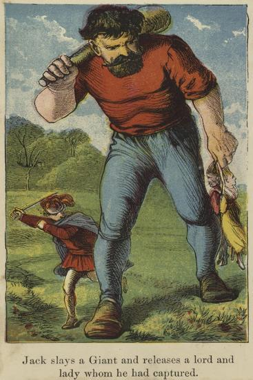 Jack Slays a Giant and Releases a Lord and Lady Whom He Had Captured--Giclee Print