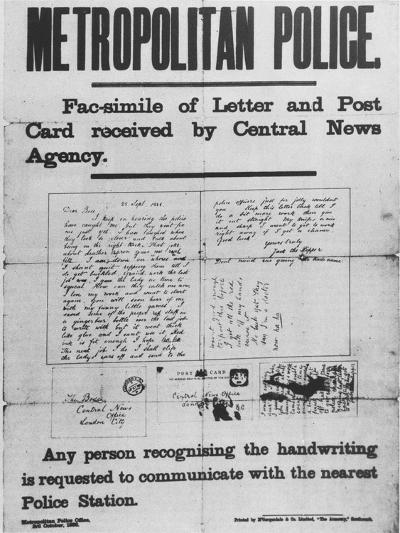 Jack the Ripper: Metropolitan Police Poster of 3 October 1888--Giclee Print