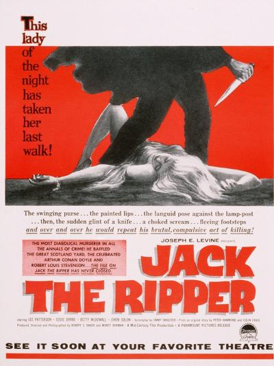 Jack the Ripper, Movie Poster, USA, 1959--Giclee Print