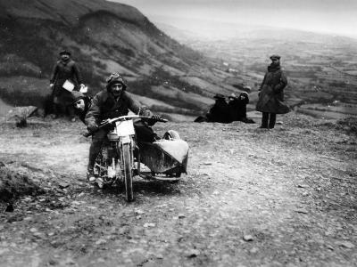 Jack Thomas Riding a Norton, Competing in the South Wales Trial, 1921--Photographic Print
