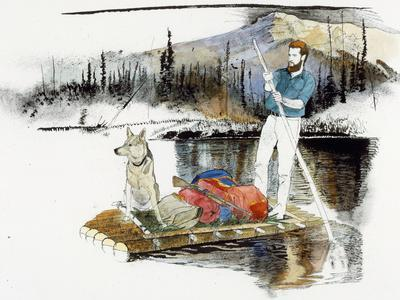 Keith Nyitray and His Dog Float Down the Chandalar River on a Raft