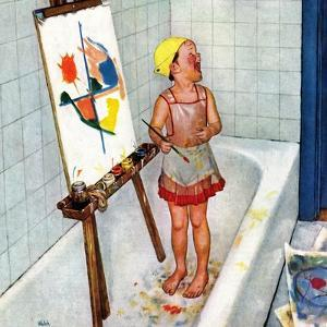 """""""Artist in the Bathtub"""", October 28, 1950 by Jack Welch"""