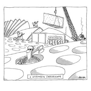 A Wisconsin Cheesescape - New Yorker Cartoon by Jack Ziegler