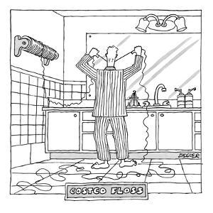 Costco Floss - New Yorker Cartoon by Jack Ziegler