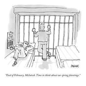 """""""End of February, McIntosh. Time to think about our spring plantings."""" - New Yorker Cartoon by Jack Ziegler"""
