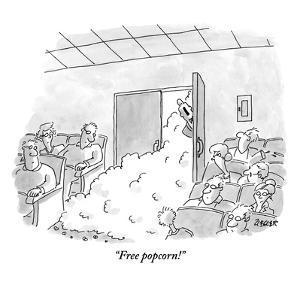 """""""Free popcorn!"""" - New Yorker Cartoon by Jack Ziegler"""