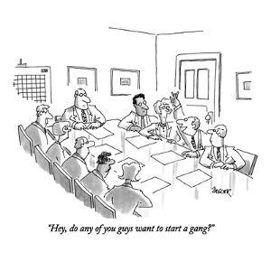 """""""Hey, do any of you guys want to start a gang?"""" - New Yorker Cartoon by Jack Ziegler"""