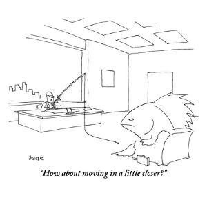 """How about moving in a little closer?"" - New Yorker Cartoon by Jack Ziegler"