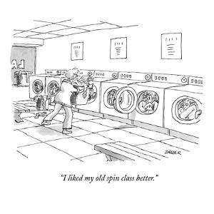 """""""I like my old spin class better."""" - New Yorker Cartoon by Jack Ziegler"""