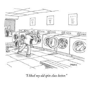 """I like my old spin class better."" - New Yorker Cartoon by Jack Ziegler"