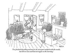 """""""I've finished shovelling and am for the most part satisfied with the resu?"""" - New Yorker Cartoon by Jack Ziegler"""