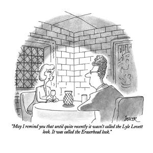 """""""May I remind you that until quite recently it wasn't called the Lyle Love?"""" - New Yorker Cartoon by Jack Ziegler"""