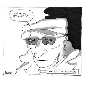 My Son the Hit Man. - New Yorker Cartoon by Jack Ziegler