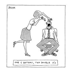 One C Battery, Two Double A's. - New Yorker Cartoon by Jack Ziegler